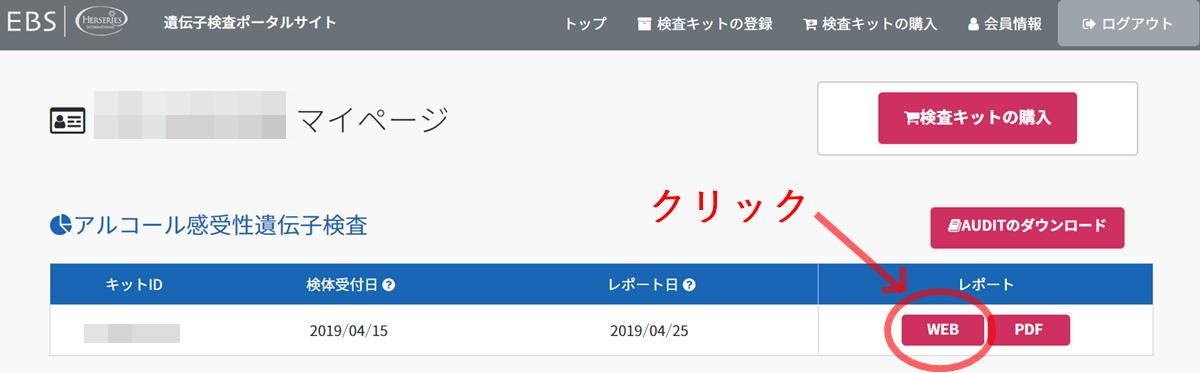 【遺伝子ポータルサイト】会員専用画面
