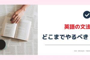 英語の文法はどこまで勉強すればいい?【結論】中学レベル以上は不要